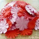 100 pcs of Paper Flowers Petals, Embellishments, Scrapbooks, Pink & Red Color, F11
