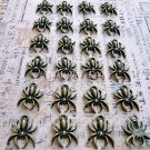 24 pcs Antique Spiders Charms Vintage Bronze Plated Dangles Bracelets Pendants, O57