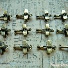 12 pcs Mini Air Planes Charms, Vintage Antique Look Bronze Pilots Air Force, O59