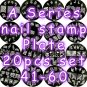 A Series Nail Art Stamp Stamping Plate A41-A60 - Set of 20 pcs