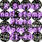 A Series Nail Art Stamp Stamping Plate A21-A40 - Set of 20 pcs