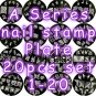 A Series Nail Art Stamp Stamping Plate A01-A20 - Set of 20 pcs