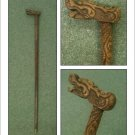 Carved wooden walking stick