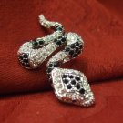 Pave Snake Brooch