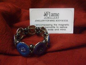 Elasticated Hematite Bracelet With Gift Box