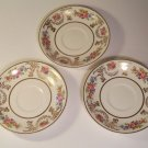 Lot of 3 Tea Cup Saucers by Johnson Brothers England Pareek Marlborough Pattern