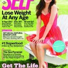 Self Magazine Actress Zooey Deschanel on Cover August 2009 - Lose Weight Any Age