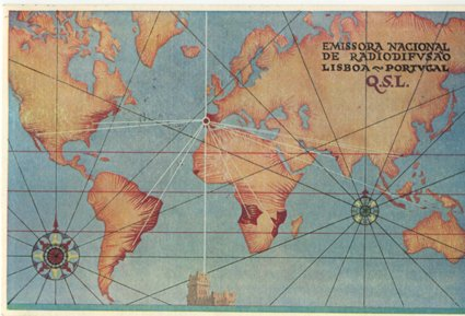 QSL 1956 Emissora Nacional PORTUGAL, stamps - Sweden Shop