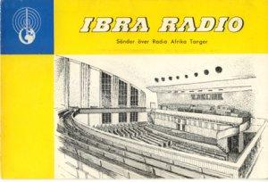 QSL 1958 IBRA RADIO Tanger - Sweden Shop