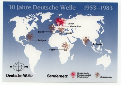 QSL 1983 Radio DEUTSCHE WELLE Germany - Sweden Shop