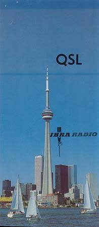 1984 QSL IBRA RADIO - Canada 1984 -  Sweden Shop