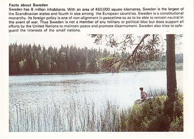 1980 QSL Radio SWEDEN - signed - Sweden Shop