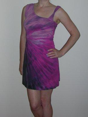 Hard Tail purple tie-dye dress; small, medium