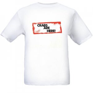 """Crabs are Here!"" Spoof Shirt - MEN (Small)"