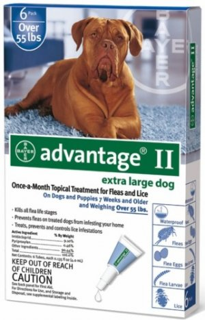 Advantage II Flea Control 6-Pack Extra Large Dogs