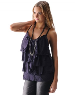 IDI By Matthew Sexy Ruffled Spaghetti Strap Tank Top