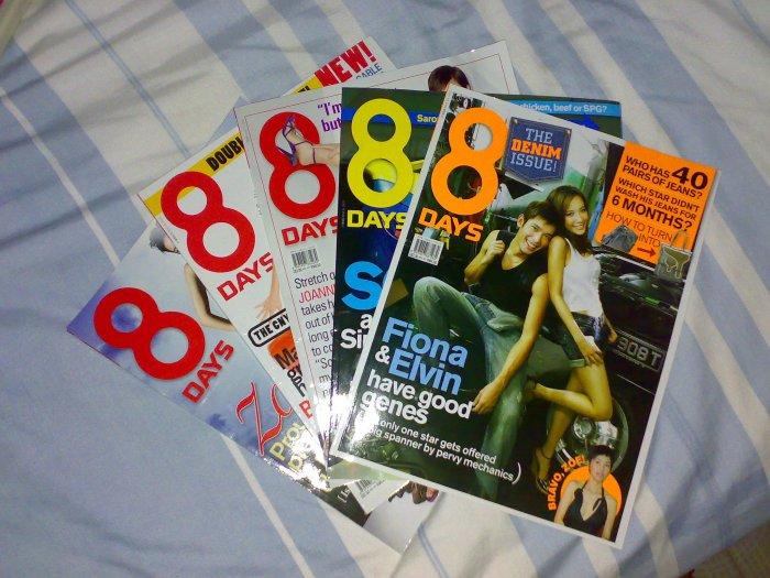 Old 8 days magazines