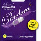 2 X Pandora 1 Pack Female sexual dietary supplement and arousal