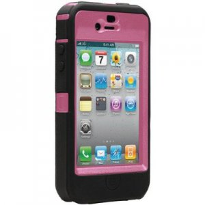 OtterBox Universal Defender Case for iPhone 4 Black Silicone & Hot Pink Plastic