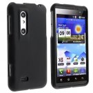 Black Rubberized Hard Case Cover for LG Thrill 4G / Optimus 3D