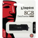 Kingston 8GB DataTraveler 100 Generation2 2.0 USB Flash Drive DT100G2/8GBZ - Black
