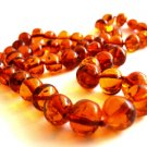 Baltic Amber Cognac Necklace Ball Beads