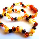 Baltic Amber Baby Teething Necklace Multicolor