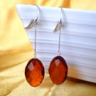 Baltic Amber Faceted Earrings Cognac