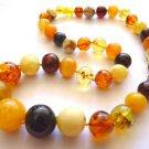 Baltic Amber Multicolor Baroque Necklace Beaded