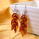 Baltic Amber Long Cognac Cluster Earrings 925 silver