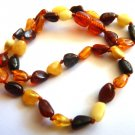 Baltic Amber Baby Teething Necklace Multicolored T1