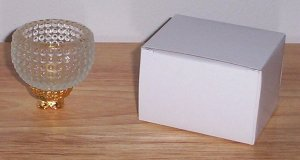Enesco 2 Pc. Votive Glass Candle Holder Bubble Hobnob