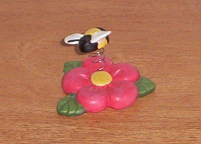 BUMBLE BEE Buzzing On a Flower Figure