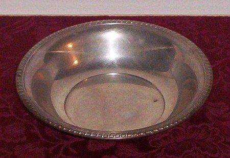 Silver Serving Bowl Decorative Fancy Vintage 1950s