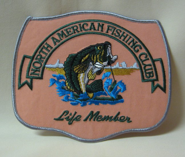North American Fishing Club Life Member Patch Large