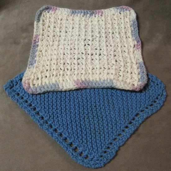 Crocheting Hotpads : Potholders Hotpads Vintage Crocheted Handmade