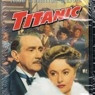 Titanic VHS Movie Barbara Stanwyck Clifton Web Robert Wagner