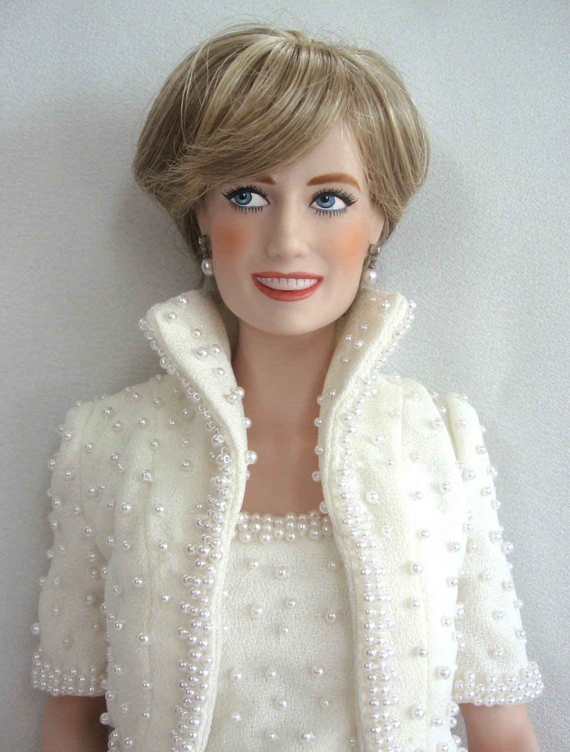 Diana Princess Of Wales Porcelain Doll Franklin Mint 1997