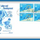 Labor And Development Envelope Stamps First Day Cover Issue 1969 Vintage