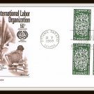 Commemorating International Labor Organization First Day Cover Issue 1969 Vintage