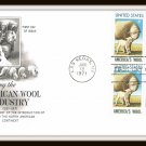 Honoring The American Wool Industry First Day Cover Issue Envelope Stamps 1971