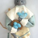 Mother Cat & Her Birds Wall Hanging Decor Midwest Of Cannon Falls Handcrafted Folk Art