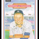 1983 Mickey Mantle #43 Puzzle Card Donruss Hall Of Fame Heroes Baseball Trading Card