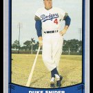 1988 Duke Snider #55 Pacific Baseball Legends Trading Card