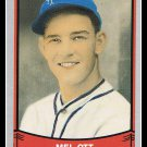 1989 Mel Ott #189 Pacific Baseball Legends Trading Card