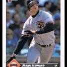 1993 Mark Leonard #288 Series 1 Donruss Baseball Trading Card