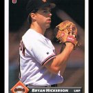 1993 Bryan Hickerson #496 Series 2 Donruss Baseball Trading Card
