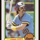 1983 Gorman Thomas #510 Donruss Baseball Trading Card
