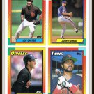 1990 Topps Baseball Trading Cards Joe Carter Junior Ortiz John Franco Brad Komminsk