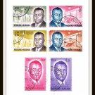 1963 Burundi Prime Minister Prince Louis Rwagasore Postage Stamps